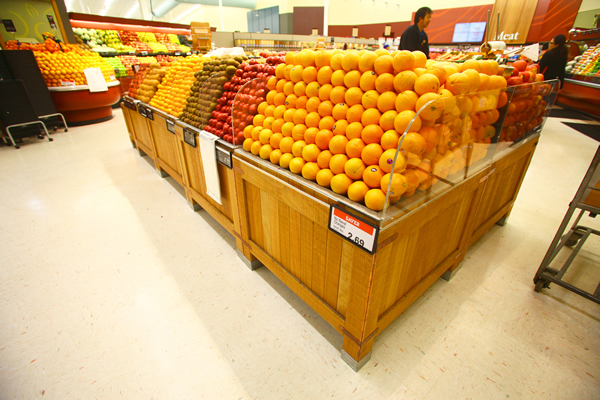 Waterfall Fruit And Veggie Displays: Fruit/Vegetable Displays - Plastic Fabrication